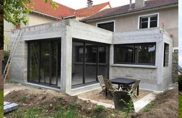 extension maison en pierre